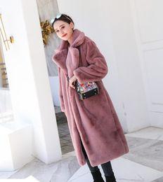 2019 женские с длинными пальто 2019 новый искусственный мех женщины длинные куртки сгущаться теплый хлопок мягкий свободные верхняя одежда пальто офис леди повседневная элегантный топы дешево женские с длинными пальто
