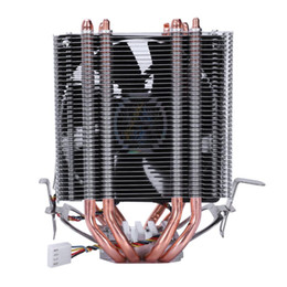 copper heat pipes Coupons - LANSHUO 4 Heat Pipe 4 Wire Without Light Single Fan Cpu Fan Radiator Cooler Heat Sink For Intel Lga 1155 1156 1366 Cooler