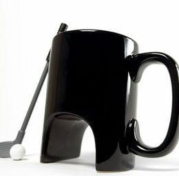 Tazza di tazza di caffè in ceramica online-Tazza da golf in ceramica, tazza da tè decorazione tazza da caffè drinkware ufficio Impugnatura casual tazza da caffè in ceramica con manico da golf tazza LJJK1798
