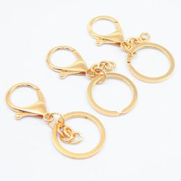 matériaux de porte-clés en gros Promotion 4pcs simple homard alliage unisexe porte-clés accessoires de bricolage matériel sac créatif clé anneau pendentif en gros