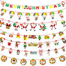 Mall weihnachtsschmuck online-Weihnachten Cartoon-Papier Banner Flag Schule Weihnachten Mall Shopping Center Flags Frohes Neues Jahr Weihnachtsschmuck