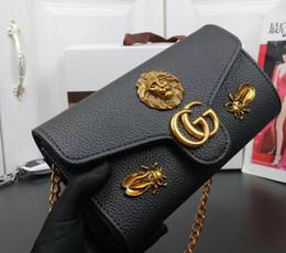 maquillaje para mujeres negras Rebajas Shiopping libre 2018 Nuevo regalo Moda bolso de maquillaje de cadena negro famoso bolso del partido Bolso de hombro de Marmont Bolsos de las mujeres 5032