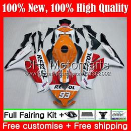 2019 kit de corpo 99 r6 Repsol laranja Injeção Para HONDA CBR1000RR 12 13 14 15 16 49MT1 CBR 1000RR 1000 RR CBR1000 RR 2012 2013 2014 2015 2016 Carenagem Carenagem