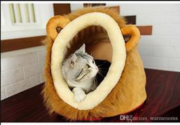 Canada Vente chaude Chat Maison Lion Léopard Grain Chat Lit Mignon Chien Maison Teddy Chiot Lit Yourte Amovible Grande Taille Offre
