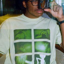 18FWChris Cunningham Borracha Johnny Esponja De Borracha T-Shirt de Manga Curta de Alta Moda Homens E Mulheres Da Moda Casal T-Shirt HFSSTX076 de Fornecedores de camisas de borracha