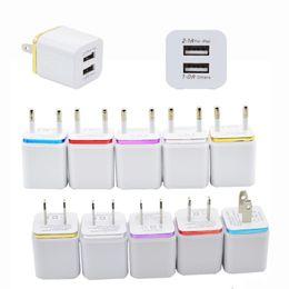 Зарядные устройства Dual USB Зарядные устройства 2 порта Металлический штекер зарядного устройства 2.1A + 1A Разъем адаптера питания для iPhone iPad Samsung Android SmartPhone от Поставщики s4 mini uk