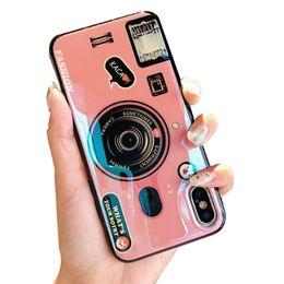 Canada Caméra Unique Conception Brillant Bling Beauté Douce TPU Étincelle IMD Couverture de Cas de Téléphone portable pour Filles Femmes avec Sangle Pour iPhone XR / Xs Offre