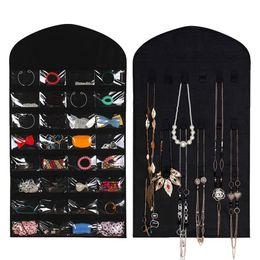 32 Taschen 18 Haken Stoff hängen Schmuck Veranstalter Inhaber Aufbewahrungstasche Ohrringe Schmuck Display Tasche Make-up Veranstalter von Fabrikanten
