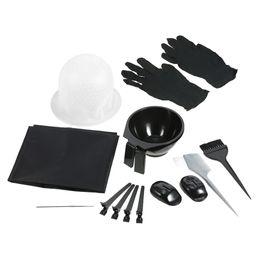 Tinteiro on-line-Cap Avental Cabelo Hair Coloring Kit tingimento bacia Escova Salon gancho Seccionadoras clipes cabeleireiro tingimento ferramenta W4467