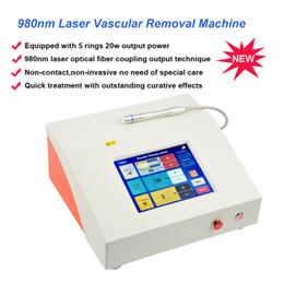 Diodos laser vermelhos on-line-Remoção vascular do laser vermelho do diodo do diodo 980nm a veia vermelha do sangue remova a vermelhidão facial da máquina do laser do diodo 980 vascular