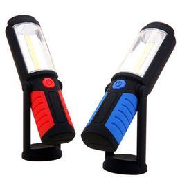 2019 jäger taschenlampe Leistungsstarke tragbare 3000 Lumen COB LED Taschenlampe wiederaufladbare magnetische Arbeitsleuchte 360 Grad Ständer hängende Taschenlampe Lampe für die Arbeit