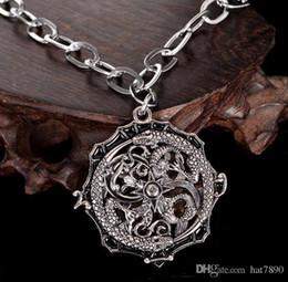 711c22590402 5pc lote nuevo producto Hombre de acero inoxidable Serpiente retro joyería  de moda collar de titanio plata antigua gota de envío