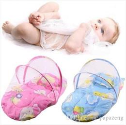 ropa de cama princesa moderna Rebajas ¡¡¡Ventas!!! Ventas al por mayor envío gratis plegable nuevo bebé de algodón acolchado colchón almohada cama Mosquito Net tienda de campaña