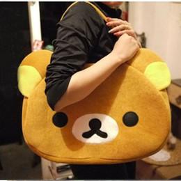 cerniera rilakkuma Sconti 2020 nuovo marchio Rilakkuma Carino Orso bruno spalla della borsa per i bambini delle donne della ragazza adolescente in cotone tote bag con chiusura a zip