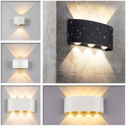 светильники настенные для гостиной Скидка Современный светодиодный настенный светильник водонепроницаемый лестничный светильник лофт прикроватная гостиная вверх вниз Главная прихожая лампа открытый алюминиевый настенный бра свет
