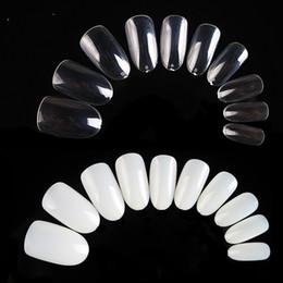 500pcs / pack naturale chiaro colore bianco ovale punta a punta pieno falso punte del chiodo mandorla forma acrilico nail art da
