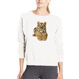 Tigre 3D impresión sudadera de manga larga de algodón streetwear moda kpop sudaderas con capucha de las mujeres venta barata de algodón ropa sudor femme desde fabricantes