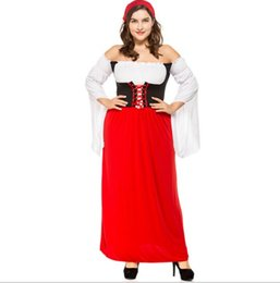 d97e10abfe773 2019 Moda Bayanlar Seksi Wench Oktoberfest Alman Hizmetçi Uzun Fantezi Elbise  Kostüm Ortaçağ Kıyafet Kadınlar Cadılar Bayramı Kostüm