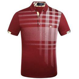 2019 camisa de negocios bordado 2019 Classic Luxury Fashion Business Casual para hombres Diseñador de la marca POLO Logo de bordado Ropa Gentleman Style Jacket T-Shirt camisa de negocios bordado baratos