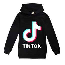 teens mädchen kleidung Rabatt TikTok Kindershirt Hülsehoodies Boy / Girl Tops Teen Kinder Sweatshirtjacke mit Kapuze Mantel Baumwollkleidung