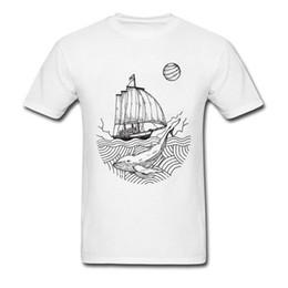 Deutschland Wal Und Boot 2018 Casual Weiße T-shirts Für Zeichnen T-shirt der Erwachsenen Baumwollgewebe Männer Anti-pilling Tops Großhandel Versorgung