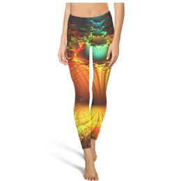 Colorati collant yoga online-Colorful Trippy art Frattale Floral a vita alta Pantaloni Yoga Donna Palestra Yoga Pantaloni Sweat Wicking Designer Collant Cute Leggings Blac