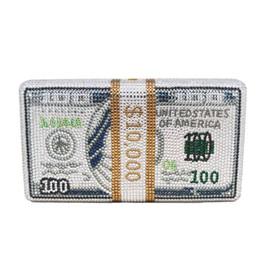 saco de embreagem de ouro rosa Desconto Projeto original $ 100 dólares do dinheiro Clutch Moda Feminina Luxo Diamante Evening Bag 2019 Dinner Party Mulheres Handbag de cristal