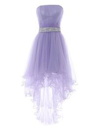 2019 сексуальное короткое платье для вечеринки индийское Светло-фиолетовые платья возвращения на родину с плиссированным лифом Симпатичные платья без рукавов Высокие низкие платья на заказ