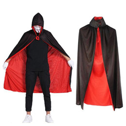 Bambini Halloween Cloak Donna Uomo Partito Cosplay Prop Festival Fancy Dress Bambini Costumi Magician Witch Wizard Gown Robe Cape CSZ017 da