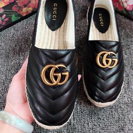 Geflochtenes leder online-Freizeitschuhe der heißen Verkaufsfrauen weibliche Mode Turnschuhe Leder Müßiggänger Schuhe Hochwertige Frau Stroh Zopf dicke Fischer Schuhe mit Box # A1