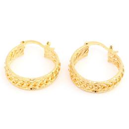 Orecchini di corda online-Moda 24K placcato oro scala Twist placcato oro grande orecchini cerchio ad anello ovale