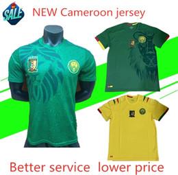 70caaa230 2019 Cameroon soccer Jerseys Africa Cup Football Wear 19 20 National Team  Vincent Aboubakar Benjamin Men s Home Jersey