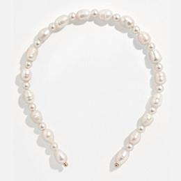 eleganti fasce artigianali Sconti Flatfoosie coreano simulato Pearl Hairband per la donna elegante da sposa Accessori per capelli gioielli artigianali Headwear fascia