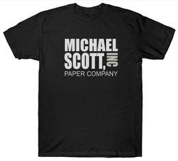 Società di carta online-MICHAEL SCOTT PAPER COMPANY INC T SHIRT THE OFFICE TV SHOW DUNDER MIFFLIN Divertente libero