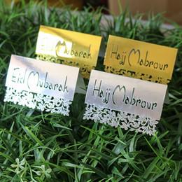 2019 cumprimentos do dia de mães Cartão EID MUBARAK HAJJ MABROUR Cartão De Mesa RAMADAN Eid Al-Fitr Festival Festa Mesa de Exibição Decoração