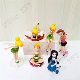 Ornement de poupée de fée en Ligne-Animation de style 6 classique avec des ailes fleur gâteau de fée bijoux merveilleux petite fée PVC modèle ornements de poupée