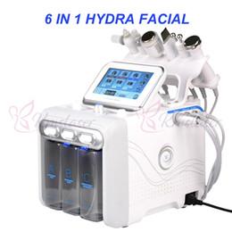 cepillo de alta frecuencia Rebajas 6 en 1 aqual peeling hidra hidratación facial rejuvenecimiento de la piel eliminación de arrugas eliminación de acné máquina facial profesional
