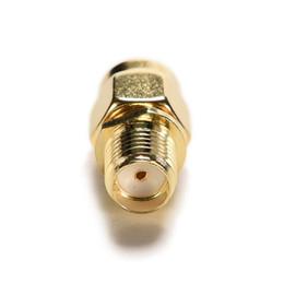 Conector macho rf on-line-RP-SMA Macho Plug para RP-SMA Feminino RF Coax Adaptador conversor Conector Em linha reta goldplated