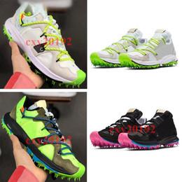 caixa biológica atacado Desconto 2019 Novo OFF-WHITE x Nike Zoom Terra Kiger 5 Mens Tênis Esportivos Sapatilhas Sapatilhas Sapatos Athletic Designer Fora Sapatos 40-45