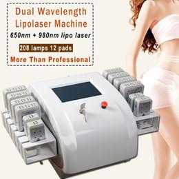 Diodi piccoli online-diodo lipo macchina sistema laser lipolaser per la perdita di peso LipoLaser dimagrante attrezzature 12pcs 8 grandi tamponi e 4 elettrodi piccoli