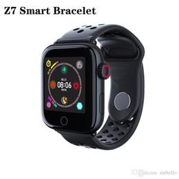 pulseira sos criança Desconto Z7 relógio inteligente de Fitness Rastreador Cardíacos pulseira GPS SOS Monitoramento Posicionamento impermeável inteligente Pulseira para IOS Android