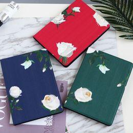 capa de dobramento floral mini ipad Desconto Nova chegada rose design livro estilo pad case para ipad mini 2 3 4 suporte de couro artificial case 9.7 polegadas ipad pro air 2 capas dobráveis shell