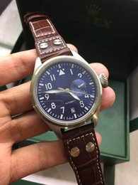 mens piloto relógio automático Desconto Presente quente Top marca de luxo mens watch IW Grande mosca série IW500916 IW500909 Portugal 7 piloto mecânico automático moda militar relógios de Pulso