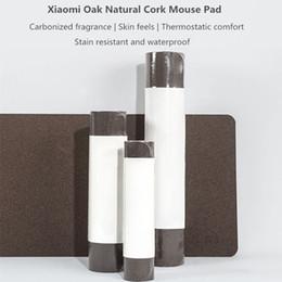 computador portátil mouse pads Desconto gota navio Oak mouse Superior Pad Natural Cork Texture Waterproof Tamanho Grande Jogo Mouse Pad computador portátil Desk Pad 275 x 245 milímetros 3015582