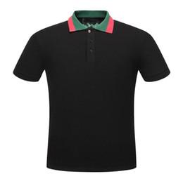 Polos de grife para homens on-line-Homens Polos Letter G Moda camisas Designer Algodão Polos Top T para homens