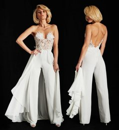 Modest Lace Top Chiffon Beach vestido de noiva com trem destacável Ines Di Santo Ilusão Corpete Lace Chiffon Summer Beach Dresses de Fornecedores de imagens de celebrity nude
