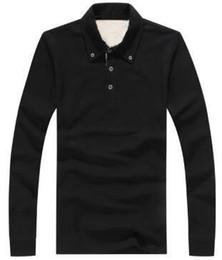 Супер Новый Мужчины Лондон Brit Повседневная Рубашки С Длинным Рукавом Твердые Рубашка Хлопок Бизнес Поло Тройники Топы Белый Черный Серый Фиолетовый 1123 от