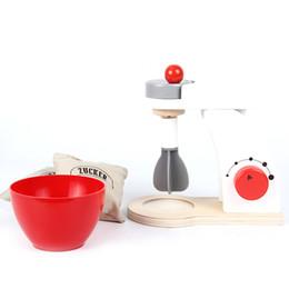Jouet en bois Maison de cuisine Set de cuisine Mini-machine de meulage Jeu de rôle Bolissage des casseroles et des marmites de bricolage jouets pour enfants ? partir de fabricateur