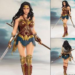 Dc comics acciones figuras online-DC Comics Wonder Woman figura juguetes muñeca 19cm DC justice League ARTFX Wonder Woman Estatua Colección Modelo de Figura de Acción Juguetes