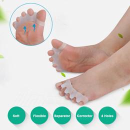 Werkzeugteiler online-Fuß Hallux Valgus Orthopädische Füße Finger Corrector Zehen Daumen Finger Separator Divider Protector Teller Fußpflege Werkzeug